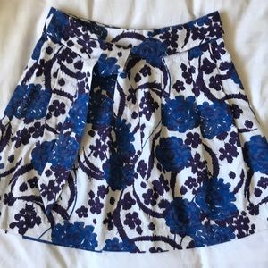 Cotton royal, purple and white cotton skirt